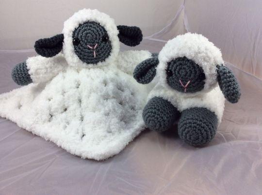 Sweet lamb lovey and amigurumi lamb