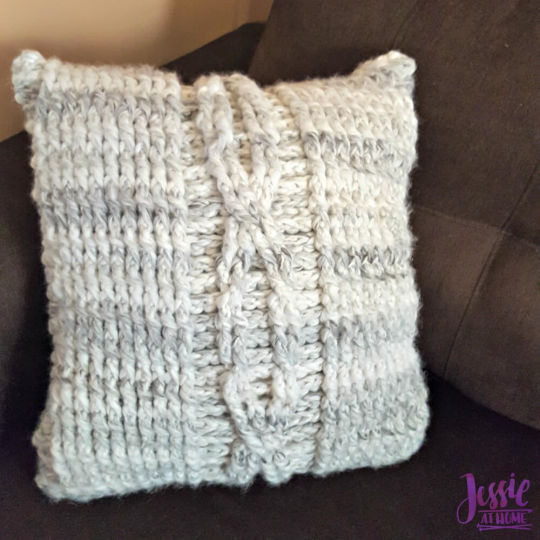 Giant Crochet Cable Pillow