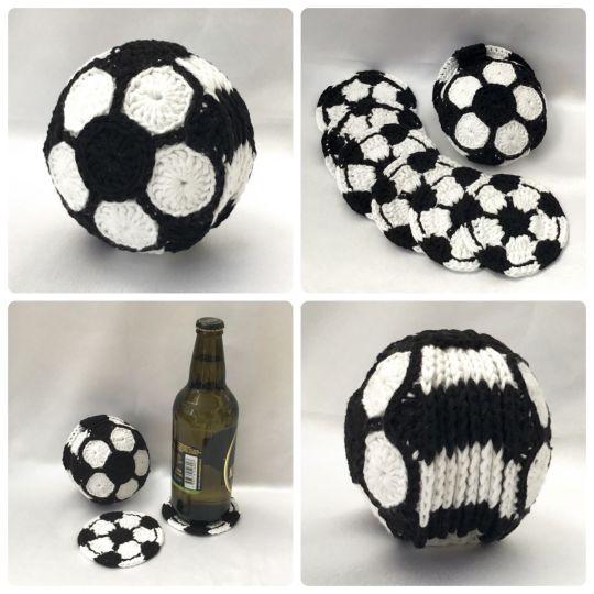 Football Coaster Set - Soccer