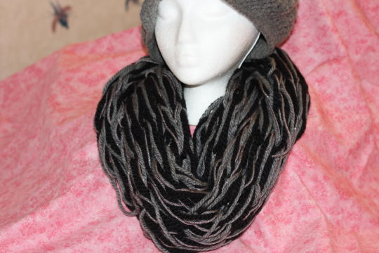 Chunky Hand Knitted Infinity Scarf Crochet Creation By Shannon