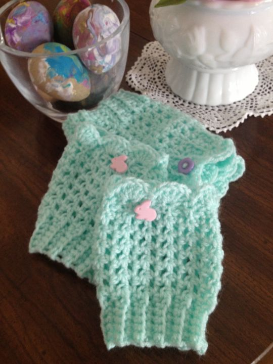 Mint boot cuffs for spring