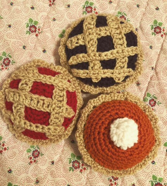 Handmade Crochet Pie Play Set