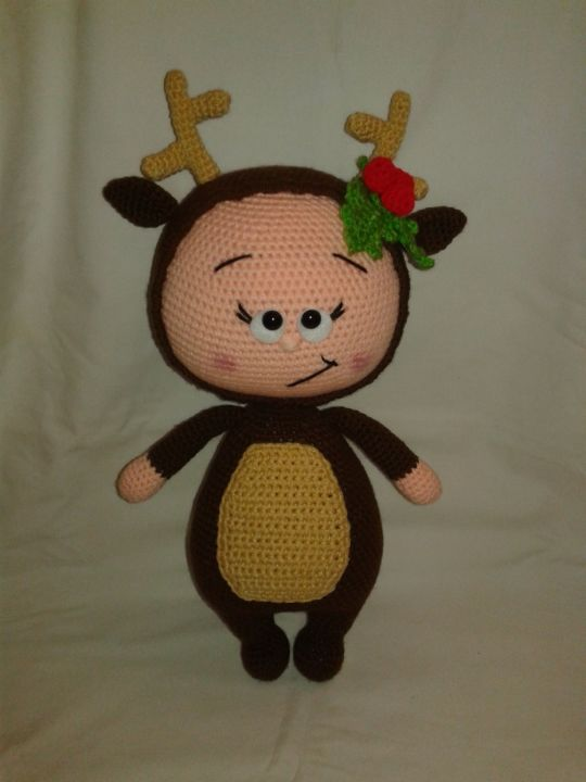 BONNIE in a Reindeer Costume