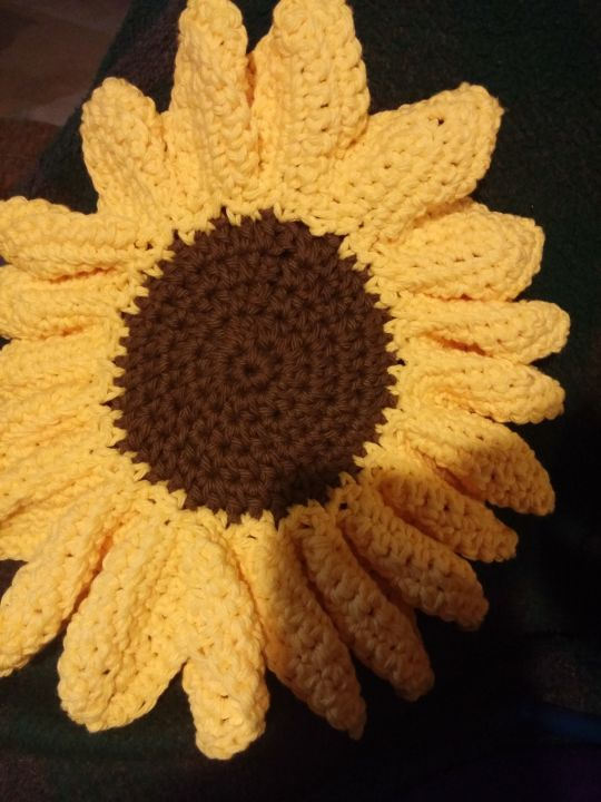 sunflower hot pad
