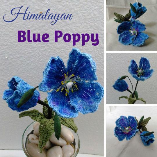 Free Himalayan Blue Poppy Crochet Pattern