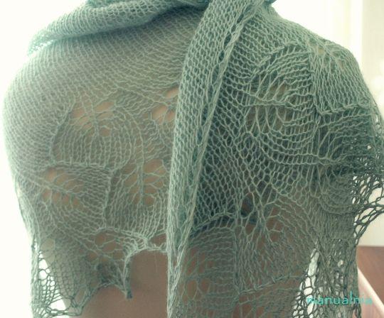 Alpaca Ginkgo shawl