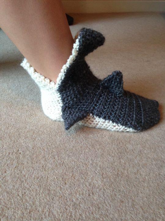 Shark Socks Crochet Creation By Rubyred0825 Crochetmunity