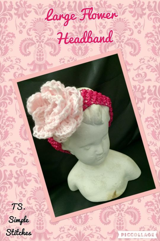 Large Flower Headband