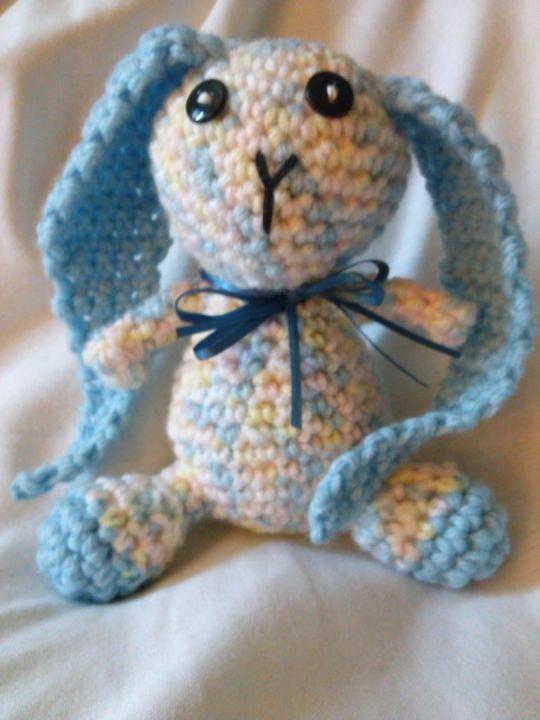 Blue Floppy Earred Bunny