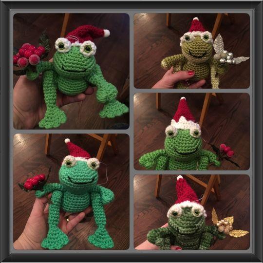 Christmas Frog Ornaments