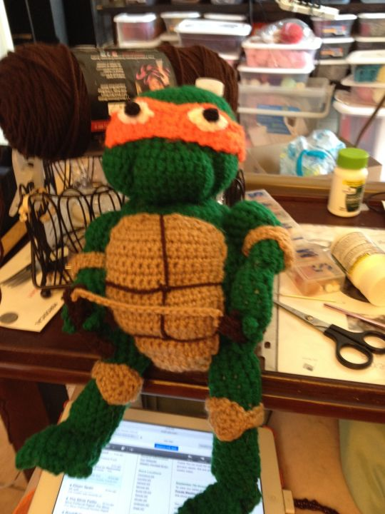 Ninja Turtle figure I made for my great grandson Braydan for is 3rd birthday