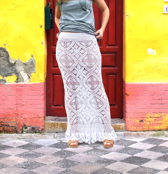 Crochet Maxi Skirt Pattern