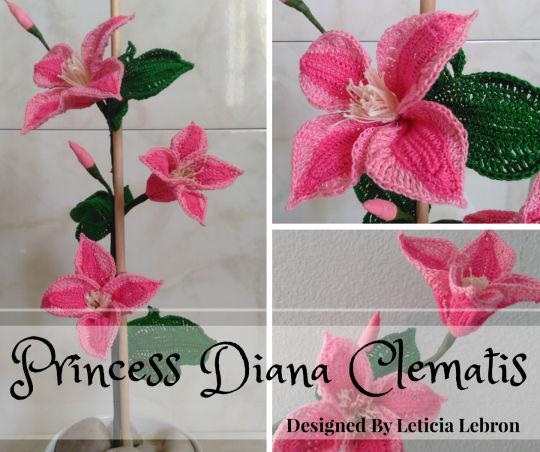 Princess Diana Clematis Flower