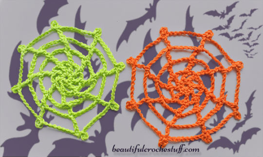 Crochet Spider Web Free Pattern