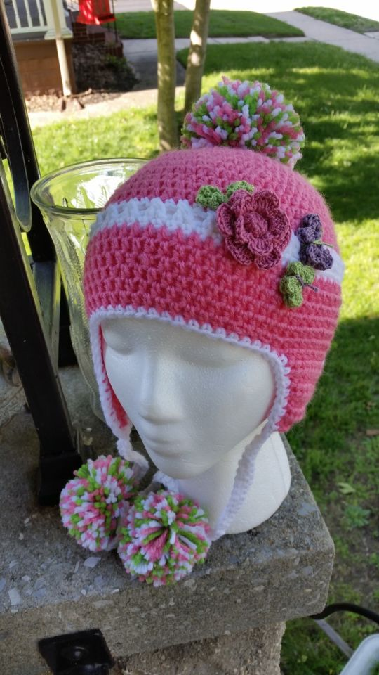 Newest Earflat Beanie with PomPoms