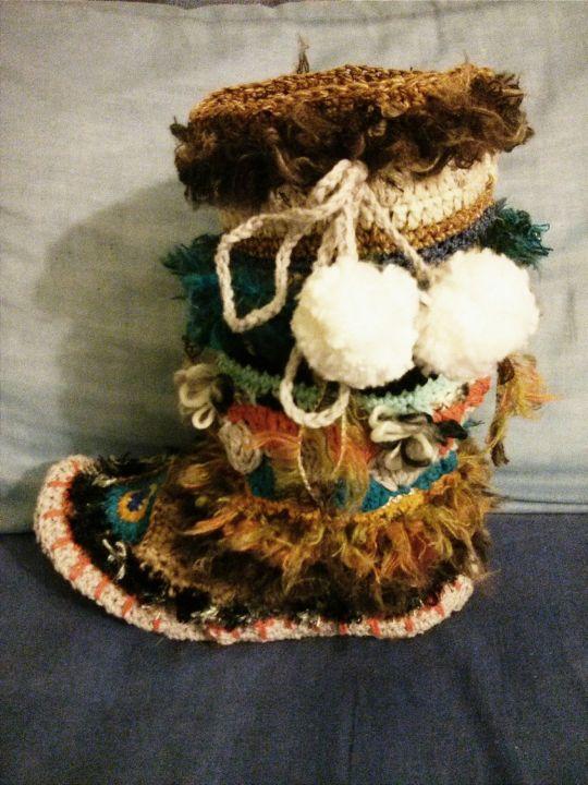 Crocheted Adult inspired Mukluck Slipper
