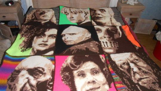 Harry Potter Blanket Sepia Backside