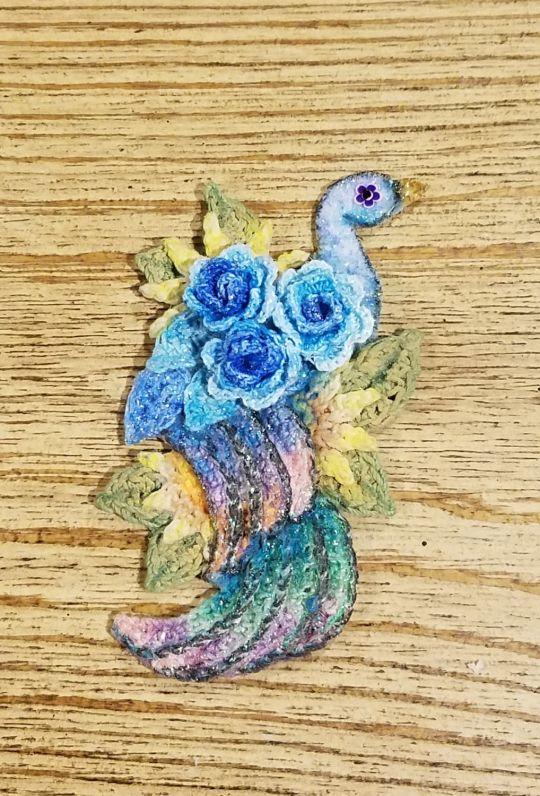Peacock and Seahorse