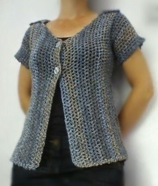 Marble Mesh Short Sleeved Cardigan