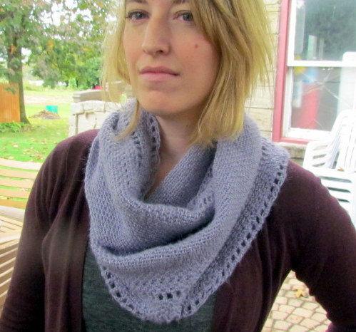 mohair/wool/acrylic blend infinity scarf