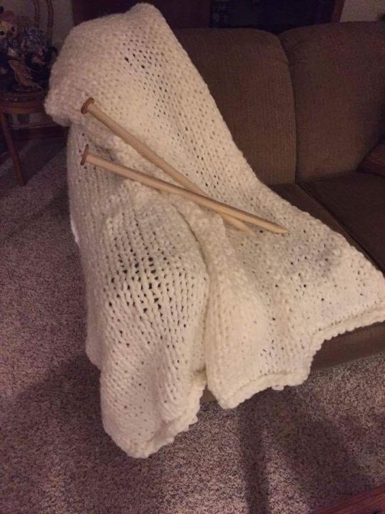 Ginormous super simple knit blanket
