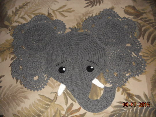 Elephant Rug - Crochet creation by Charlotte Huffman - Crochet ...