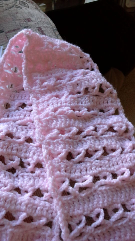 my take on a scarf for breast cancer since its october