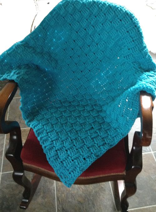 "Basket Weave ""Throw"" Blanket"