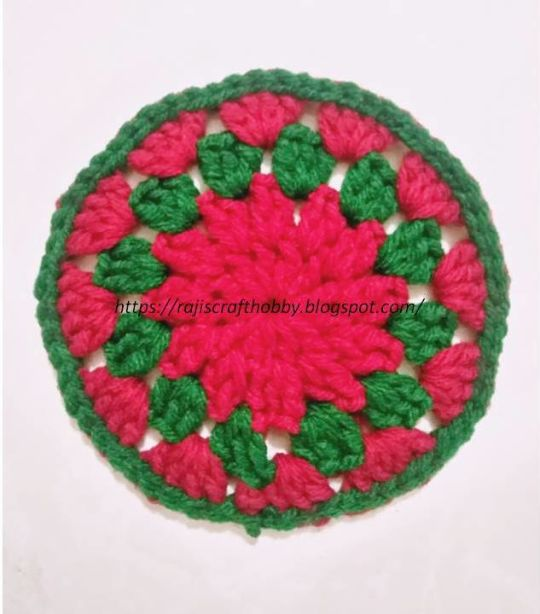 Christmas Themed Crochet Coaster