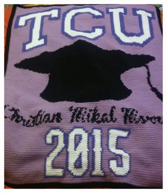 TCU Graduation Blanket