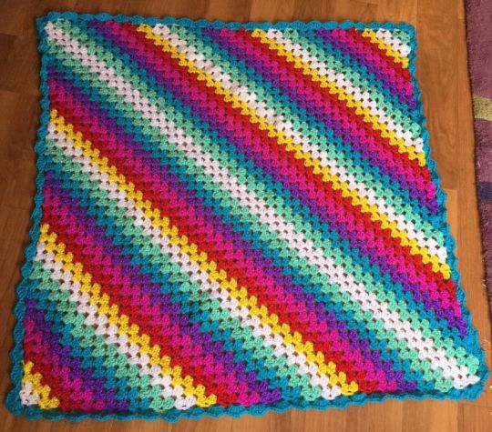 Corner To Corner Granny Square Blanket Crochet Creation By Rebecca