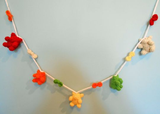 Kawaii Rainbow Gummy Bear Garland