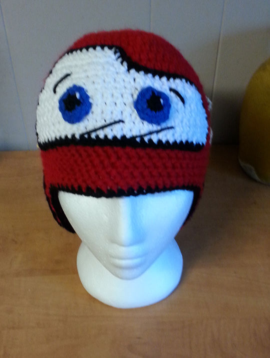 Cars inspired crocheted Hat
