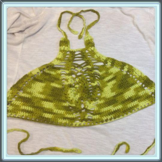 Halter bikini/crop top