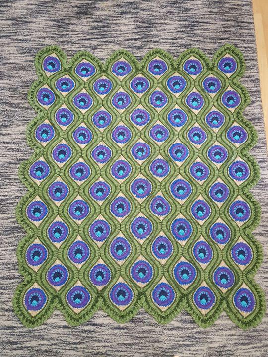 Peacock afghan CAL
