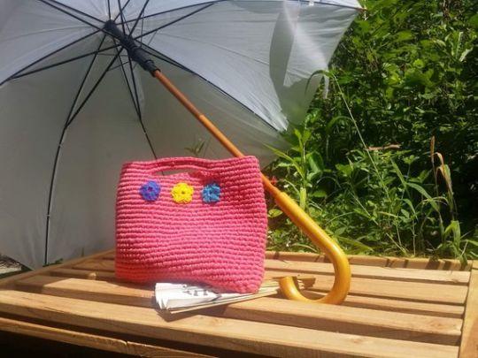 Coral Bag, Crochet Bag, Trendy Crochet Bag, Summer Bag, Cotton Tote, Beach Bag, Women Gift