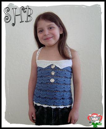 Splash Crochet Halter