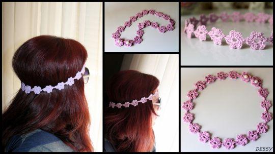 Crochet headband in light purple