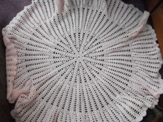 Pink swarvoski thread wool shawl