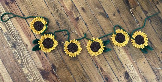 Handmade Sunflower Decorative Garland