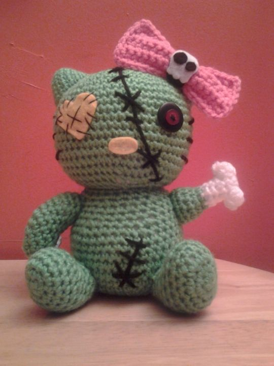 Zombie Kitty Crochet Creation By Sherily Toledos Talents