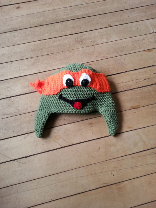 Crocheted inspired Ninja Turtle Hats