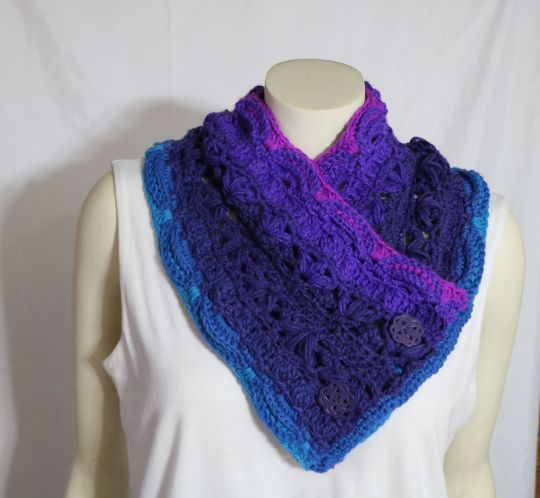 Cowl made from Lion Brand Mandala in Troll