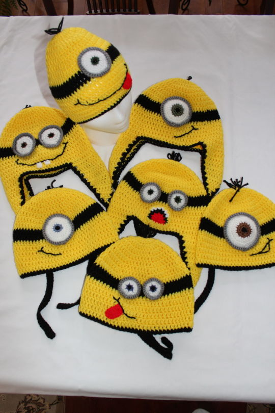 Minion hats for needy children