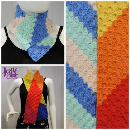 Scarf Squared – Double Crochet C2C Box Stitch Tutorial
