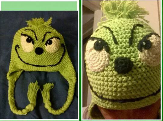 crocheted Grinch Hat