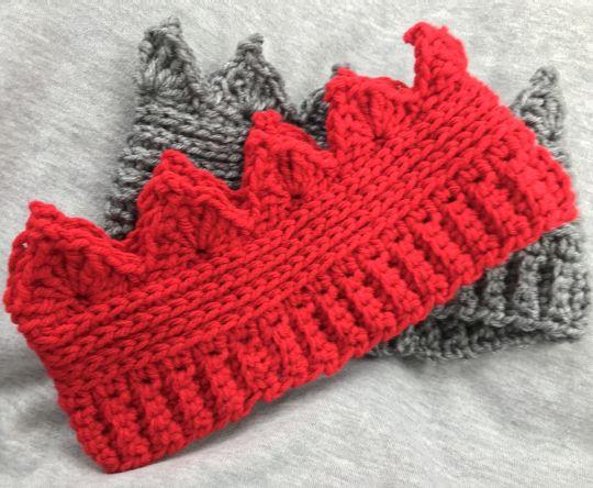 Crochet crown ear warmers