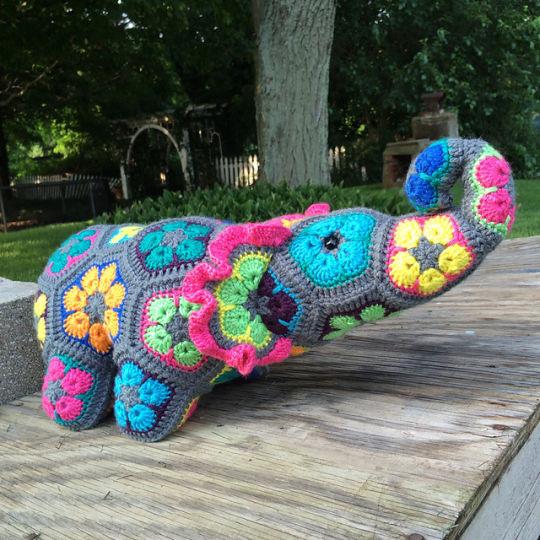 African Flower Elephant Crochet Creation By Alana Judah Crochet