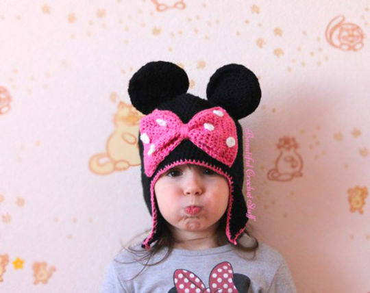 Minnie Mouse Crochet Hat Free Pattern