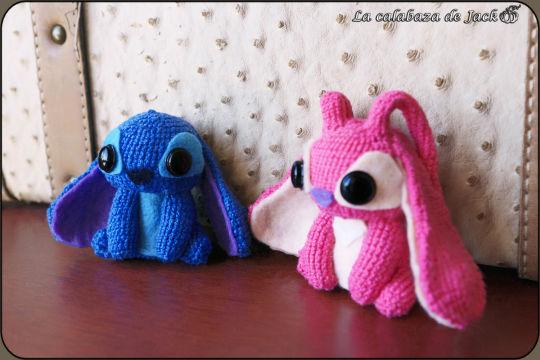 Stitch & Angel Amigurumi - Lilo & Stitch - La Calabaza de Jack